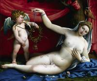 Lorenzo Lotto~Venus and Cupid
