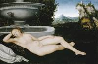 Lucas Cranach the Elder~Reclining Nymph