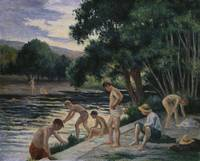 Maximilien Luce~Bathers on the Banks of the Cure