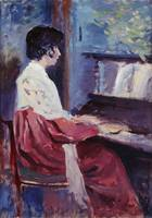 Maximilien Luce~Lucie Cousturier at the Piano