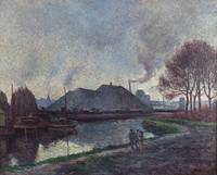 Maximilien Luce~The River Sambre at Charleroi (La