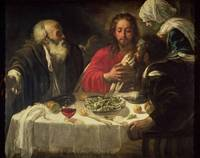 Michelangelo Merisi da Caravaggio~The Supper at Em
