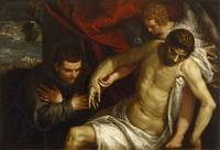 Paolo Veronese~The Dead Christ Supported by an Ang