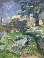 Paul Gauguin~The Wooden Gate or, The Pig Keeper