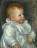 Pierre-Auguste Renoir~A Portrait of Coco Against a