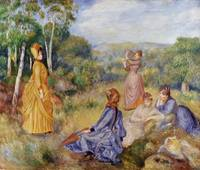 Pierre-Auguste Renoir~Girls Playing Battledore and
