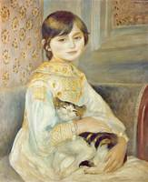 Pierre-Auguste Renoir~Julie Manet with Cat
