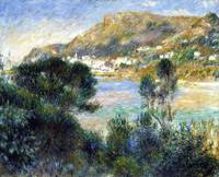 Pierre-Auguste Renoir~View From Cap Martin of Mont