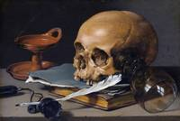 Pieter Claesz~Still Life with Skull and Quill