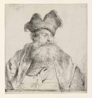 Rembrandt van Rijn~Old Man with a Divided Fur Cap