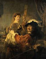 Rembrandt van Rijn~Rembrandt and Saskia in the Par