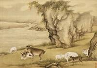 Shen Nanpin~Album of Birds and Animals (Sheep and