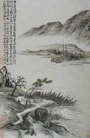 Tao Chi~View of Boats at a Riverbank from an Album