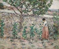 Theodore Robinson~In The Garden