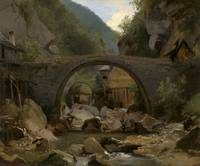 Théodore Rousseau~Mountain Stream in the Auvergne