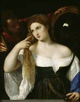 Titian~Portrait of a Woman at her Toilet