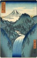 Utagawa Hiroshige~In the Midst of the Izu Mountain