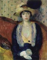 William James Glackens~Miss Olga D