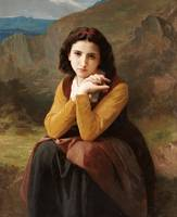 William-Adolphe Bouguereau~Reflective Beauty