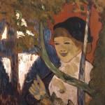 Émile Bernard~Breton Girl with a Red Umbrella Prints & Posters