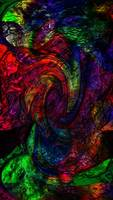 Abstract Dark Red Green Blue Swirl