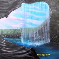View From Behind The Waterfall Art Prints & Posters by Rick Schimpf