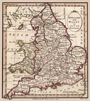 Engalnd and Wales Antique Map1804