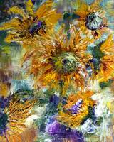Modern Impressionism Sunflowers Oil Painting