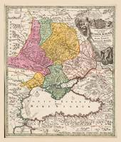 Black Sea Region Map (1720) Turkey Bulgaria Russia