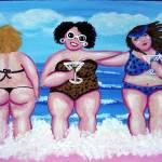 3 Martini Beach Divas Prints & Posters