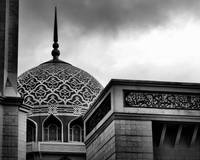 RED MOSQUE, Details, No. 1, in B & W