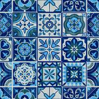 Azulejos Portugal Blue Tiles Pattern