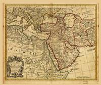 Map of Turkey, Arabia, and Persia (1721)