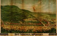 Hot Springs, Arkansas Birdseye Map (1890)