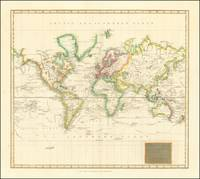 Hydrographical Chart of the World on Wright or Mer