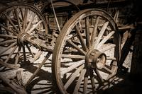 Old West Wagon Wheels by Kirt Tisdale