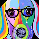 Dachshund with Glasses Prints & Posters
