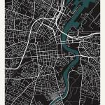 City of Belfast Map Prints & Posters