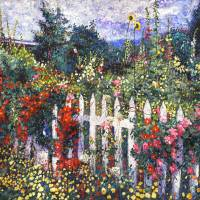 WhITE PICKET FENCE Art Prints & Posters by David Lloyd Glover