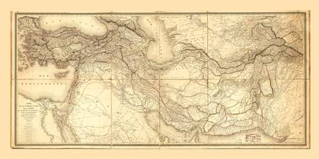 Map of Middle East (1848)
