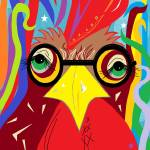 Rooster with Glasses Prints & Posters
