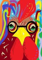 Rooster with Glasses