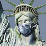 Statue Of Liberty Corona Virus Prints & Posters