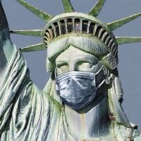 Statue Of Liberty Corona Virus Art Prints & Posters by Tony Rubino