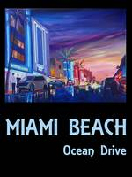 Miami Beach Ocean Drive Retro Poster - South Beach