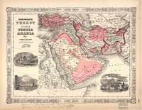 Map of Turkey (1864)