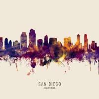 """San Diego California Skyline"" by ModernArtPrints"