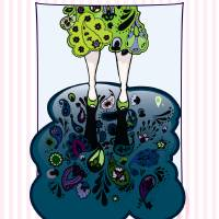 Paisley Puddles Art Prints & Posters by Natalie Baird