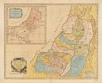 Land of Canaan (Holy Land) Map (1760)
