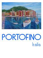 Retro Poster Portofino Mediterranean Pearl Of The